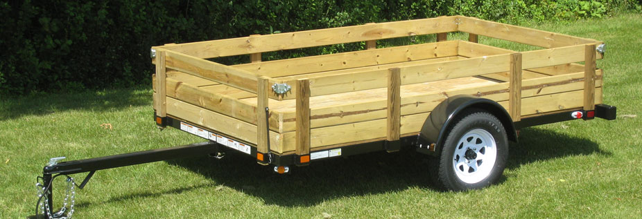 Wood Flatbed Trailer ~ Build wood sided utility trailer pdf woodworking